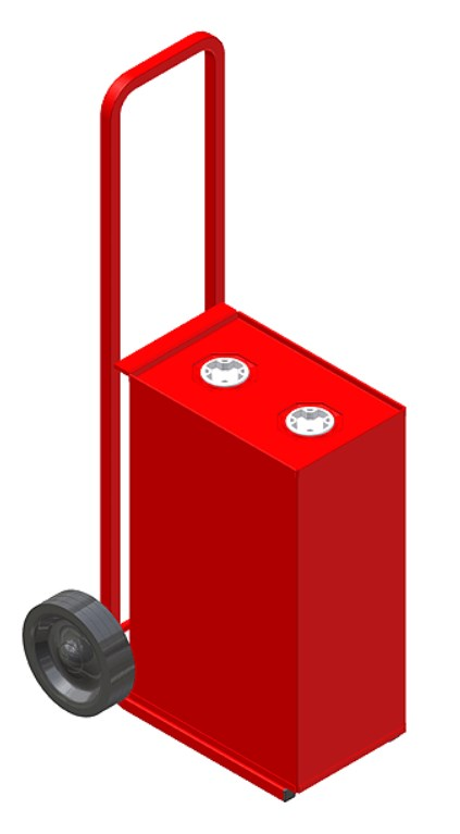 25 Litre Oil Tank & Trolley (Red)